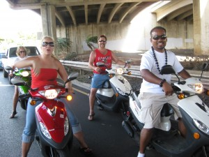 4-mopeds-under-the-freeway