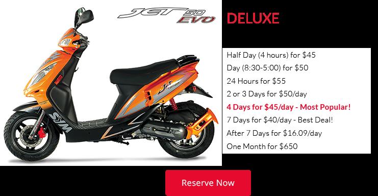 Deluxe Hawaii Moped Rental