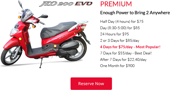premium hawaii scooter rental
