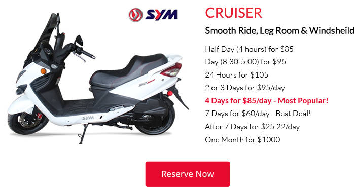 cruiser hawaii scooter rental
